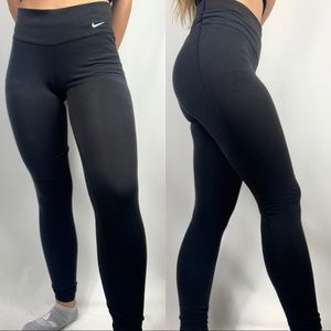 Nike Black Logo Dri Fit Cotton Leggings